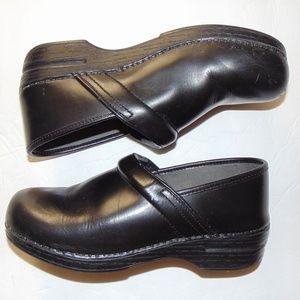 Black Leather Dankso Clogs 11